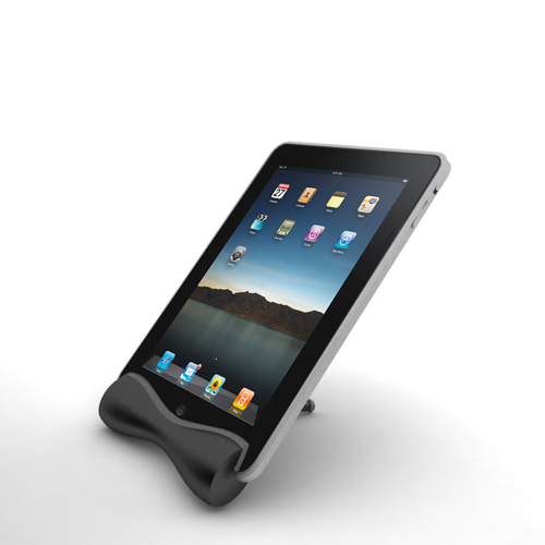 A004 Solid Bar Stand for iPad with Capacitive Stylus
