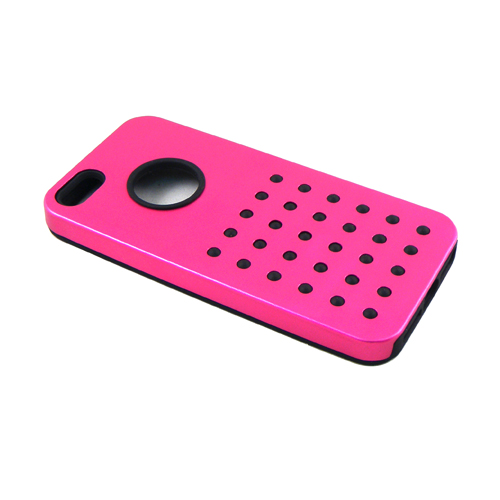 5700 iPhone 5 Metal+Silicon Rubber Case