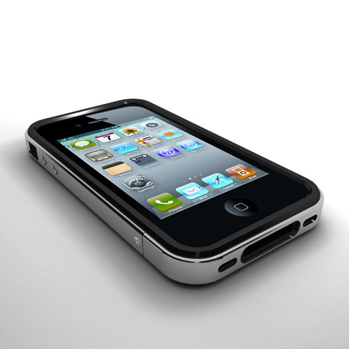 M410 iPhone 4 Metal+Silicon Rubber Bumper